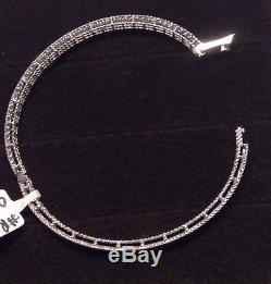 Roberto Coin 18K White Gold Symphony Princess Bracelet With Diamonds-NWT & Box