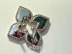 Roberto Coin 18K White Gold Venetian Princess Diamond Earrings FREE INS SHIPPING