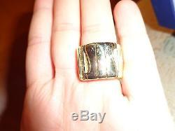 Roberto Coin 18K Yellow And White Gold Diamond Elephantino Ring