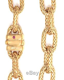 Roberto Coin 18K Yellow Gold Bracelet 555591AYGB00 MSRP $2,800