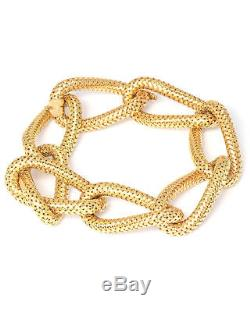 Roberto Coin 18K Yellow Gold Bracelet 555594AYGB00 MSRP $4,950