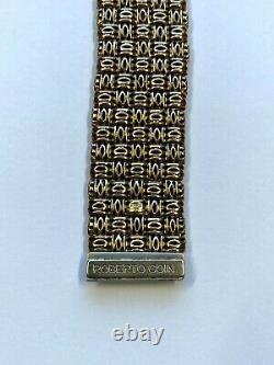 Roberto Coin 18K Yellow Gold Diamond Bracelet! 86.6 gram