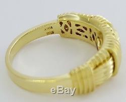 Roberto Coin 18K Yellow Gold Gold Appassionata Ring / Band Italy Rtl $1,800