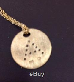 Roberto Coin 18K Yellow Gold Initial Necklace A NWT & Pouch MSRP $620