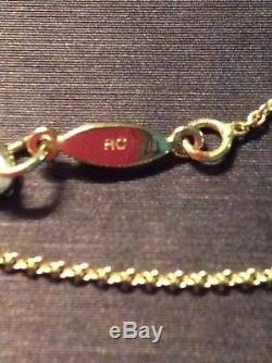 Roberto Coin 18K Yellow Gold Initial Necklace Y NWT MSRP $620