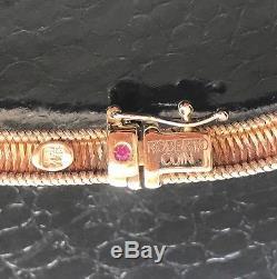 Roberto Coin 18K Yellow Gold Pave Diamond 16 Woven Silk Weave Choker Necklace