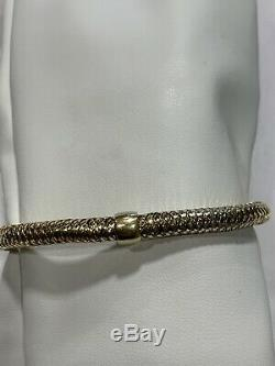 Roberto Coin 18K Yellow Gold Primavera Flex Bracelet 7 Italy $1,380