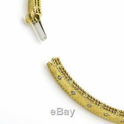 Roberto Coin 18K Yellow Gold Princess Diamond Hinged Bangle Bracelet