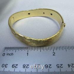 Roberto Coin 18K Yellow Gold Rayada Elephant Skin Bangle Bracelet 24.8g #J423