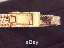 Roberto Coin 18K Yellow Gold Symphony Princess Bracelet With Diamonds-NWT & Box