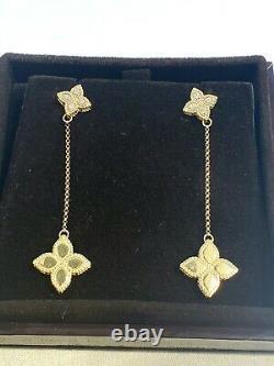 Roberto Coin 18K yellow Gold Princess Diamond drop Earrings