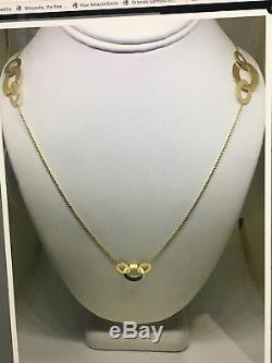Roberto Coin 18K yellow gold round link 36in necklace