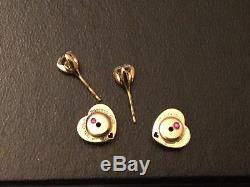 Roberto Coin 18Kt Cento Diamond Stud Earrings. 80 ct H SI1 $6k Retail