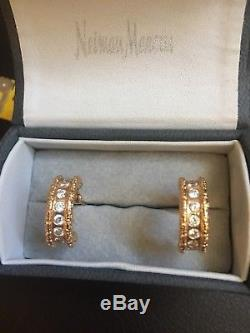 Roberto Coin 18 K Rose Gold & Diamond Florentine Huggie Earrings