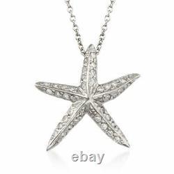 Roberto Coin 18 Karat White Gold Diamond Starfish Necklace