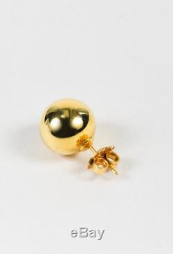 Roberto Coin 18 Karat Yellow Gold Sphere Stud Earrings
