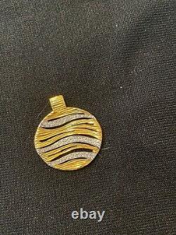 Roberto Coin 18 diamond and gold pendant