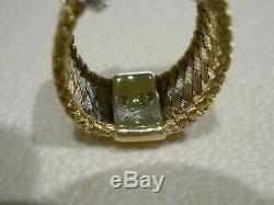 Roberto Coin 18 k Yellow Gold & Diamond Silk Woven Band Ring Size 6.5