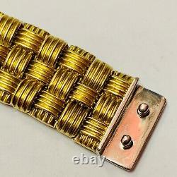 Roberto Coin 18ct Gold & Diamond Appassionata 3 Row Bracelet Heavy 57.5g