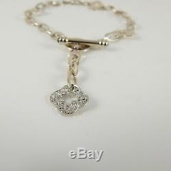 Roberto Coin 18k. 25tcw Chic And Shine Pave Diamond Quatrefoil Charm Bracelet