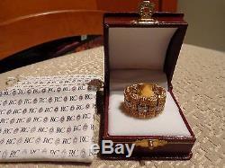 Roberto Coin 18k Barocco Diamond 18k Gold Wide Band Flex Ring Sz 6.5 $3680