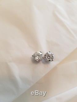 Roberto Coin 18k Cento Diamond Earrings 2.43ct LOVELY