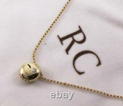 Roberto Coin 18k Gold Diamond Black Enamel Wink Smiley Emoji Necklace Pendant