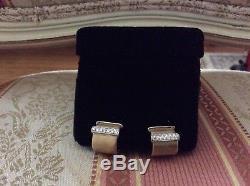 Roberto Coin 18k Gold Diamond Huggie Earrings With. 32 carats of diamonds