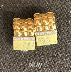 Roberto Coin 18k Gold Earrings With Diamonds