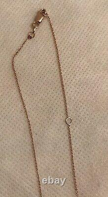 Roberto Coin 18k Gold Mother Of Pearl Pendant Necklace NWOT