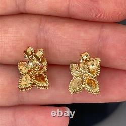 Roberto Coin 18k Princess Flower Earrings New $1450