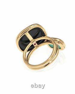 Roberto Coin 18k Rose Gold And Black Jade Ring Sz 6.5 888612AX65J0
