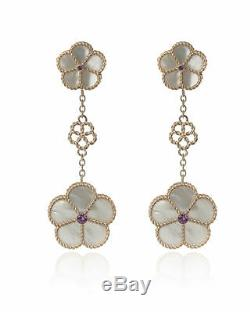 Roberto Coin 18k Rose Gold And Mother Of Pearl Earrings 7772690AXERX