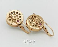 Roberto Coin 18k Rose Gold Clear Quartz Diamond Drop Earrings