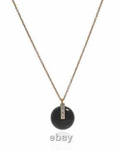 Roberto Coin 18k Rose Gold Diamond(0.08ct Twd.) Jade Necklace 8882317AX18BJ