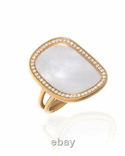 Roberto Coin 18k Rose Gold Diamond(0.37ct Twd)and MOP Ring Sz 6.5 8881985AX65J