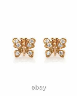 Roberto Coin 18k Rose Gold Diamond 0.7ct Earrings 111060AXERX0