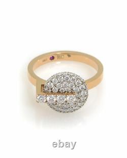 Roberto Coin 18k Rose Gold Diamond(1.14ct Twd.)Ring Sz 6.5 8882315AX65X1