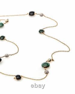 Roberto Coin 18k Rose Gold Diamond And Black Jade Necklace 8882358AX40J