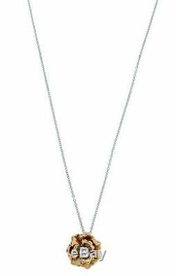 Roberto Coin 18k Rose Gold Diamond And Quartz Pendant Necklace