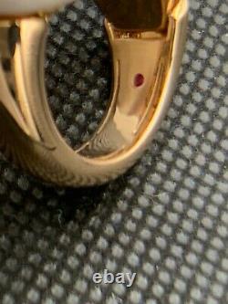 Roberto Coin 18k Rose Gold Diamond Animalier Cobra Ring