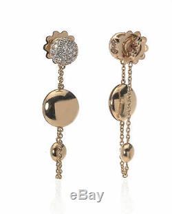 Roberto Coin 18k Rose Gold Diamond Earrings 8882371AHERX