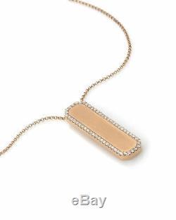 Roberto Coin 18k Rose Gold Diamond Necklace 8882024AX31X