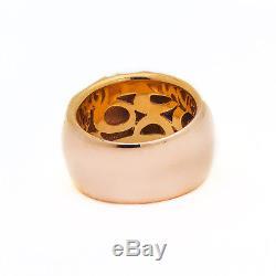 Roberto Coin 18k Rose Gold Enamel Diamond Ring 0.25ct TDW Size 7