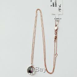 Roberto Coin 18k Rose Gold Green Amethyst & Diamond Pendant Necklace $950