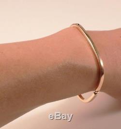 Roberto Coin 18k Rose Gold Hinged Rectangular Bangle Bracelet, 7 In Length