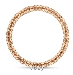 Roberto Coin 18k Rose Gold Symphony Barocco Band Ring Size 6.5