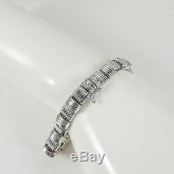 Roberto Coin 18k White Gold. 18tcw Single Row Diamond Appassionata Bracelet