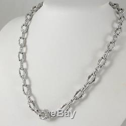 Roberto Coin 18k White Gold. 19tcw 18 Appassionata Chain Link Diamond Necklace