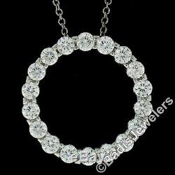 Roberto Coin 18k White Gold 3.40ct Cento Diamond Circle of Life Pendant Necklace